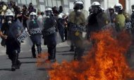 Violence Flares In Athens Amid Mass Strike