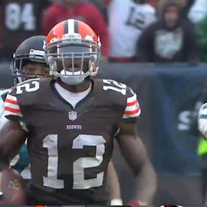 Cleveland Browns wide receiver Josh Gordon vs. Atlanta Falcons defense