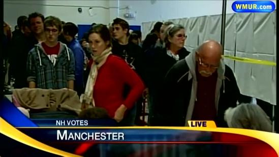 Long lines at polls in NH