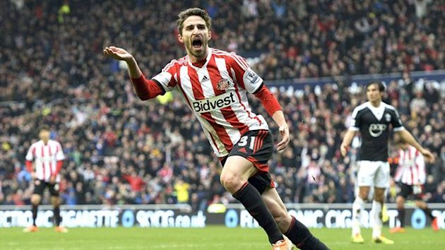 Fabio Borini celebrates scoring for Sunderland (Reuters)