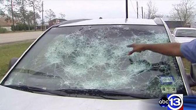 Storm drops large damaging hail in Hitchcock