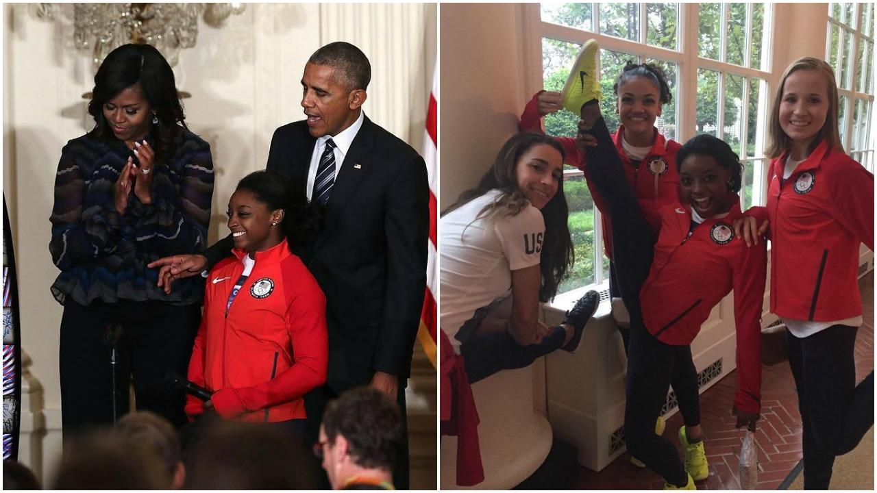 The 'Final Five' Gymnastics Team Meets President Obama, Takes Over White House Instagram