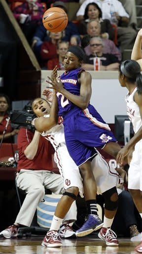 No. 12 Oklahoma women top Northwestern State 96-35