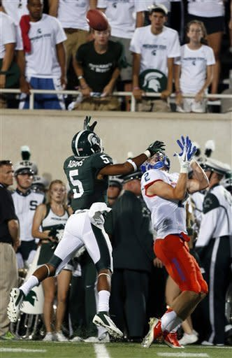 No. 13 Michigan St. beats No. 24 Boise St. 17-13
