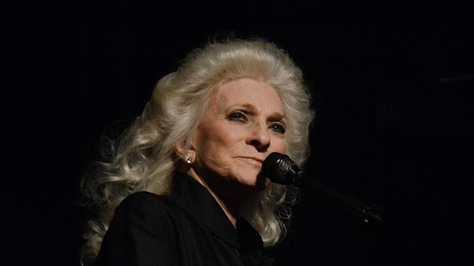 """Songwriter Judy Collins performing at the 8th Annual ASCAP """"I Create Music"""" EXPO, on Friday, April 19, 2013 in Hollywood, California. (Photo by Tonya Wise/Invision for ASCAP/AP Images)"""