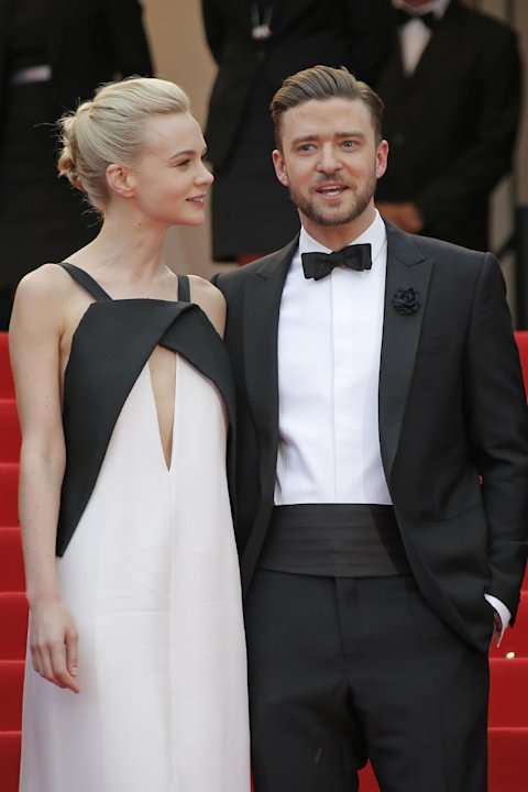 Actors Carey Mulligan, left, and Justin Timberlake arrive for the screening of the film Inside Llewyn Davis at the 66th international film festival, in Cannes, southern France, Sunday, May 19, 2013. (
