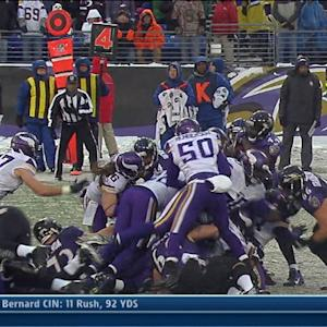 Minnesota Vikings stop Baltimore Ravens on 4th down