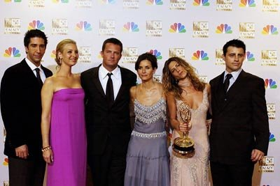 David Schwimmer, Lisa Kudrow, Matthew Perry, Courteney Cox, Jennifer Aniston and Matt LeBlanc Emmy Awards - 9/22/2002