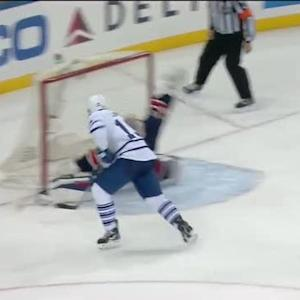Lundqvist robs Lupul at point blank range