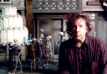 Co-director Tim Burton on the set of Warner Bros. Pictures' stop-motion animated film Tim Burton's Corpse Bride