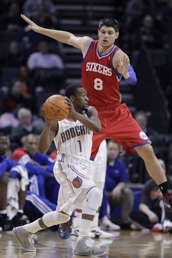 76ers send Bobcats to 15th straight loss