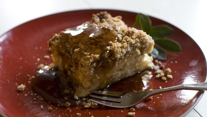 This Nov. 18, 2013 photo shows French toast hash crumb casserole in Concord, N.H. (AP Photo/Matthew Mead)
