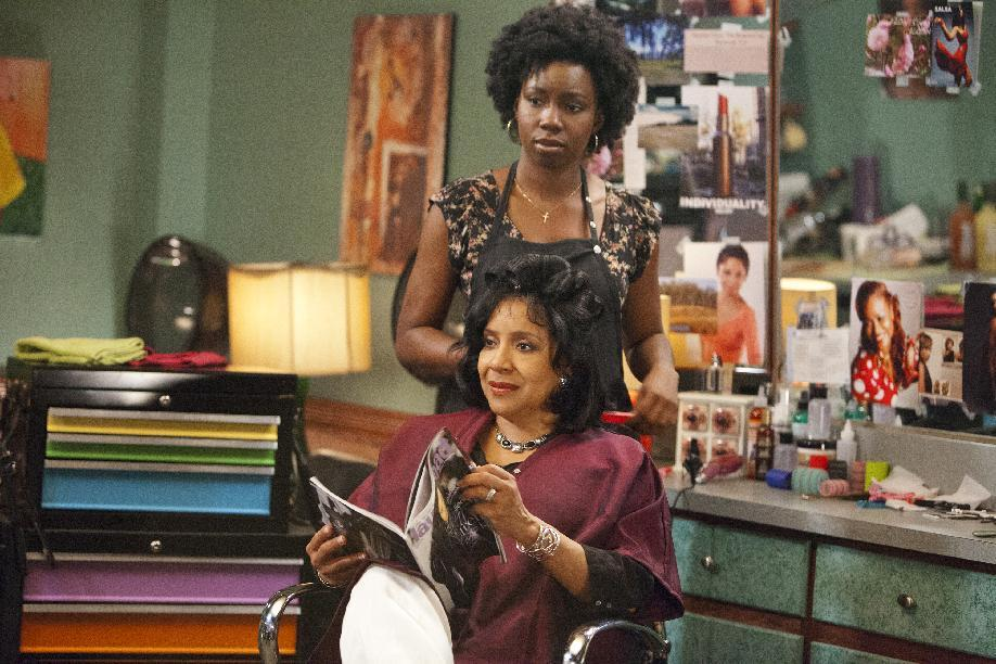 "This undated image released by Lifetime shows Adepero Oduye as Annelle and Phylicia Rashad as Clariee in a scene from the Lifetime Original Movie, ""Steel Magnolias,"" premiering Sunday, Oct. 7, at 9pm on Lifetime.  (AP Photo/Lifetime, Annette Brown)"
