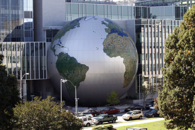 "This Oct. 16, 2012 photo shows a large globe of the planet Earth, part of the Nature Research Center at the N.C. Museum of Natural Sciences addition in downtown Raleigh, N.C. The N.C. Museum of Natural Sciences is the most popular museum or historic site to visit in the state, toppling the Biltmore House from the ranking it's held for nine years. ""Clearly, there's a widespread interest to understand what science can tell us about what's changing in our society and in the environment around us,"" a museum official said at a news conference Monday, March 4, 2013. (AP Photo/The News & Observer, Chris Seward) MANDATORY CREDIT"