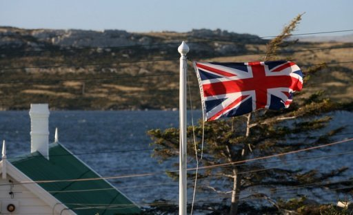 <p>The Union Jack waves over Stanley in the Falkland Islands. The Falkland Islands will hold a referendum on its political status in 2013 in a bid to end the bitter territorial dispute between Britain and Argentina, the archipelago's government said.</p>