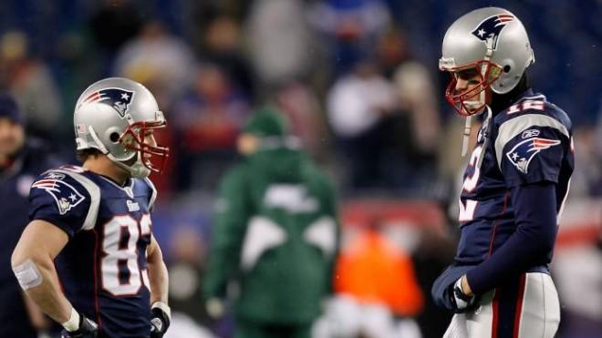 Wes Welker (left) was Tom Brady's favorite receiver.