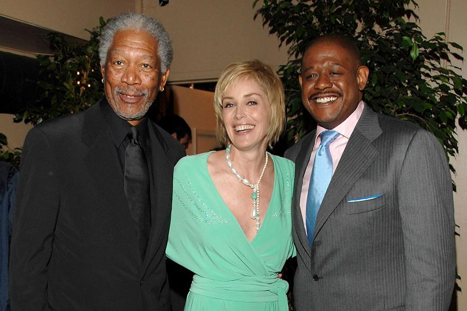 Morgan Freeman, Sharon Stone and Forest Whitaker at the 5th Annual TV Land Awards.