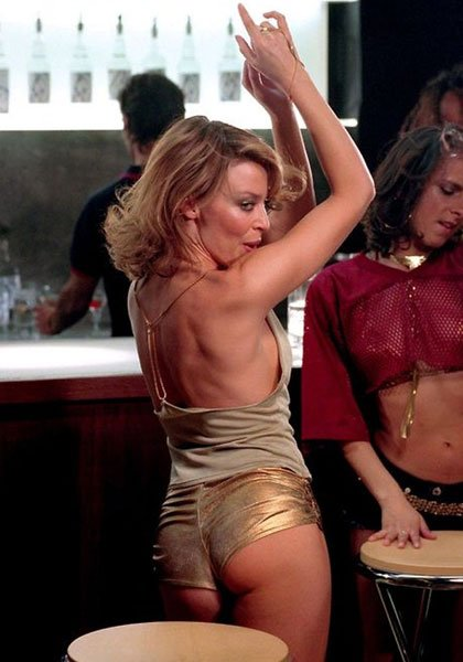 Kylie in the Spinning Around music video, 2000