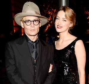 Johnny Depp, Girlfriend Amber Heard Wear Matching Black Outfits During Rare Outing Together: Picture