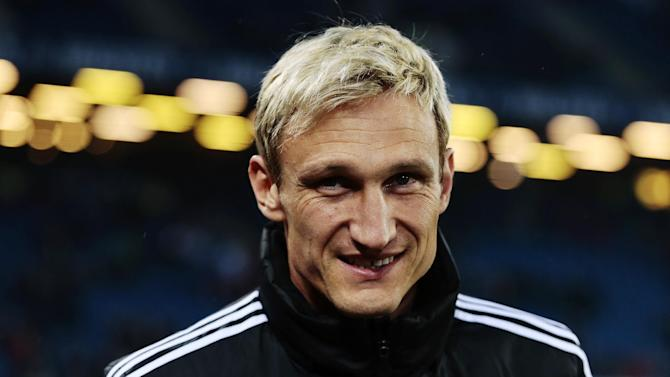 Former Liverpool defender Sami Hyypia, seen here in April 2014, resigned as Brighton and Hove Albion manager after only six months in charge of the Championship club