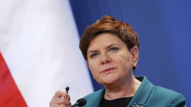 Polish Prime minister Szydlo attends a joint news conference with her Hungarian counterpart Orban after their meeting in Budapest