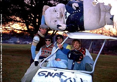 The jackass gang having golf cart fun in Paramount's jackass: the movie