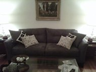 The perfect gray sofa that did not fit through the doorway