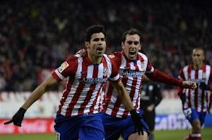 Atletico Madrid 3-2 Levante: Diego Costa at the double as Rojiblancos go top of La Liga