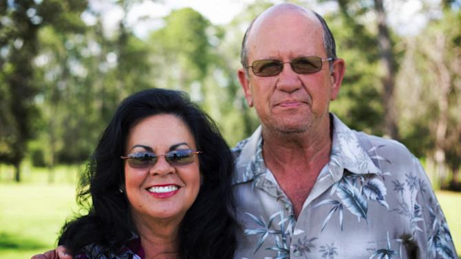 """This undated image released by CMT shows Kitten Dowden, left, and Gerald Dowden from the CMT series """"Bayou Billionaires."""" Few states can boast more reality shows than Louisiana, and the state's specialty appears to be rough-hewn, blue-collar types. Besides the alligator-wrangling Cajuns on History's """"Swamp People,"""" the bayou state now has a series about men who trap swamp rodents on Spike TV and another about a family of duck-hunters who earn a living making duck calls and decoys on A&E's """"Duck Dynasty.""""  (AP Photo/CMT)"""