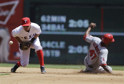 Rangers win home opener 3-2 over Hamilton, Angels
