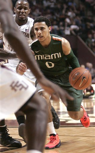 Larkin stars as No. 3 Miami gets 74-68 win at FSU