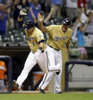 Gindl's HR in 13th sends Brewers past Marlins 1-0