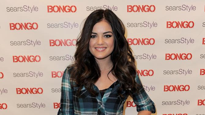 Lucy Hale hosts the Bongo karaoke party at Sears in the South Coast Plaza Mall on Saturday, November 10, 2012 in Costa Mesa, Calif. (Photo by Jordan Strauss/Invision for BONGO/AP Images)