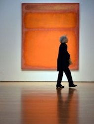Mark Rothko&#39;s &quot;Orange, Red, Yellow&quot; on display at Christie&#39;s in New York on May 4. The painting became the world&#39;s most expensive contemporary art work when it fetched $86.9 million in a stunningly lucrative auction at Christie&#39;s