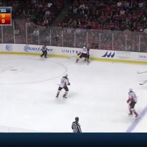Hampus Lindholm Hit on Andrew Shaw (19:11/1st)
