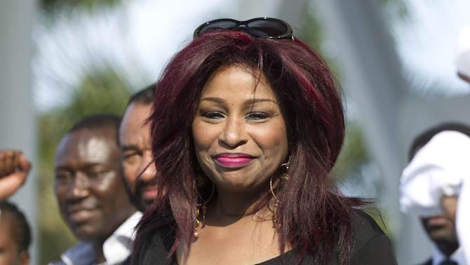 FILE - In a Sunday, April 1, 2012 file photo, singer Chaka Khan joins a rally of support for the family of Trayvon Martin as thousands gather in downtown Miami, demanding justice for Martin.  Halle Berry and Chaka Khan will be honored at the 2013 BET Honors. The network announced Thursday, Dec. 20, 2012 that basketball star Lisa Leslie, music executive Clarence Avant and religious leader T.D. Jakes will also be celebrated at the Jan. 12 event in Washington, D.C at the Warner Theatre.    (AP Photo/J Pat Carter, File)