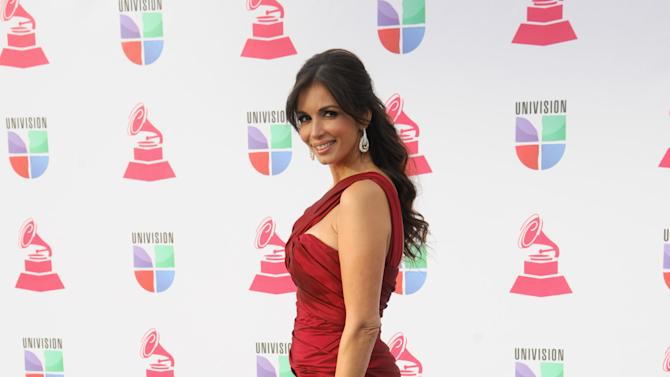 Giselle Blondet arrives at the 13th Annual Latin Grammy Awards at Mandalay Bay on Thursday, Nov. 15, 2012, in Las Vegas. (Photo by Brenton Ho/Powers Imagery/Invision/AP)