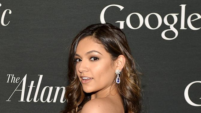 "Bethany Mota  poses for photographers as she arrives for Google and The Atlantic event to celebrate ""The Art of Expression"" on the National Mall, in Washington"