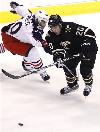 Nash, Mason lead Blue Jackets past Stars 4-1
