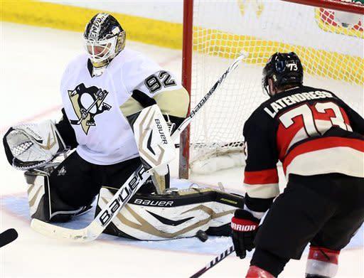 Penguins beat Senators 3-1 for 7th straight win