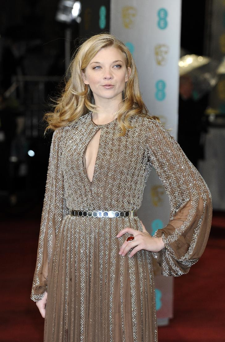 British actress Natalie Dormer arrives for the BAFTA Film Awards at the Royal Opera House on Sunday, Feb. 10, 2013, in London. (Photo by Jonathan Short/Invision/AP)