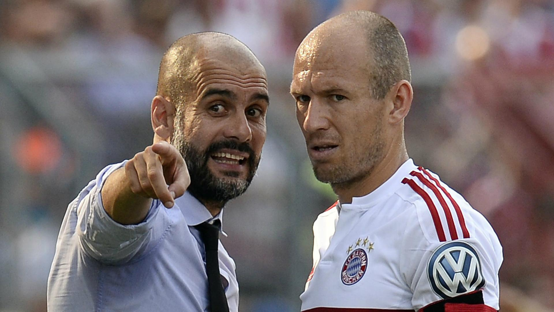 Robben wants Guardiola to stay at Bayern