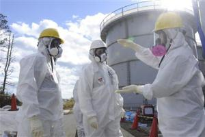 Handout photo shows Barrett, a member of TEPCO outside reform committee and independent consultant in the energy field, in Fukushima prefecture