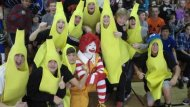 A bunch of bananas is not a Halloween treat, costumes maybe, but not a treat!