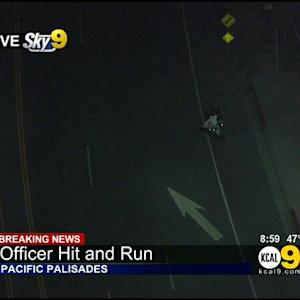 LAPD Motorcycle Officer Injured In Pacific Palisades Hit-And-Run