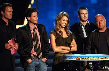 Julian McMahon, Ioan Gruffudd, Jessica Alba, Chris Evans and Michael Chiklis MTV Movie Awards 2005 - Show Los Angeles, CA - 6/4/05