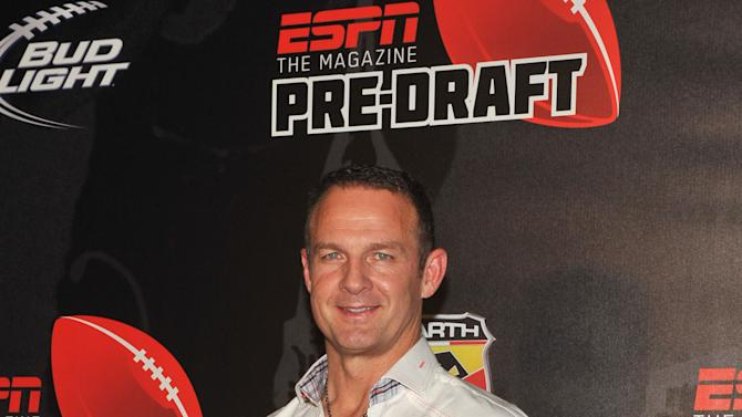 ESPN's Merril Hoge arrives to the 9th annual ESPN The Magazine Pre-Draft Party at The Waterfront in New York, Wednesday, April 25, 2012, held on the eve of the NFL Draft.  (Diane Bondareff/AP Images for ESPN The Magazine)
