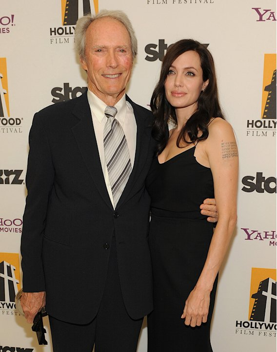 Hollywood Film Festival Awards Gala 2008 Clint Eastwood Angelina Jolie