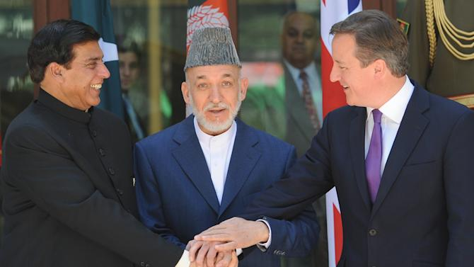 British Prime Minister David Cameron visits Afghanistan - Day Two