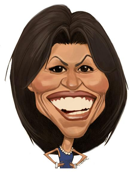 CARICATURE: Michelle Obama